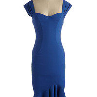 Vintage Inspired Long Cap Sleeves Sheath Diamond in the Ruffle Dress