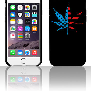 Marijuana Leaf American Flag 5 5s 6 6plus phone cases