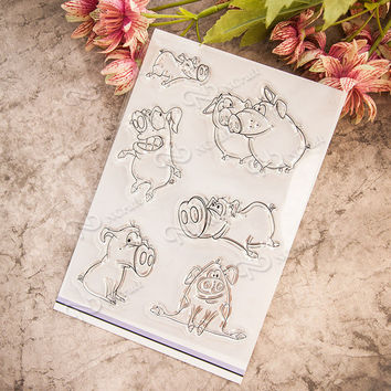 NCraft Clear Stamps N2117 Scrapbook Paper Craft Clear stamp scrapbooking Pig