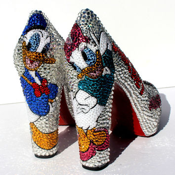 Mickey Mouse and Donald Duck Crystal Shoes