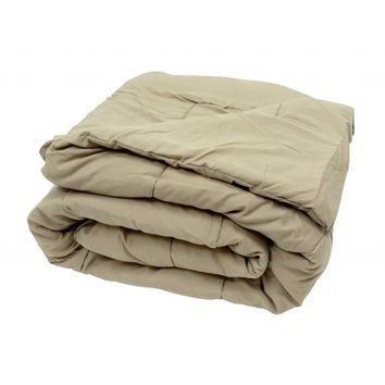 Oversized Taupe Down Alternative Comforter Super Soft 90 Gsm in Full/Queen Size