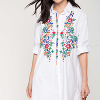 Primrose Embroidered Shirtdress