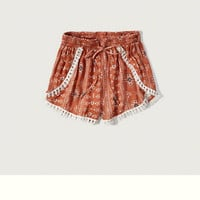 Patterned Tulip Shorts