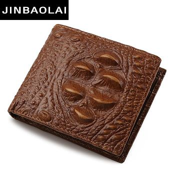 Famous Luxury Genuine Leather Men Wallets Design Coin Pocket Purse Men's Leather Wallet With Coin Purse Portfolio Carter