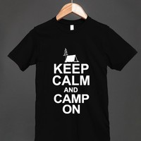 Keep Calm And Camp On (T-Shirt)