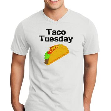 Taco Tuesday Design Adult V-Neck T-shirt by TooLoud