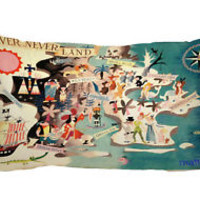 "Neverland Peter Pan Zippered Pillow Case 16""x 24"" - 2 sides Cushion Cover"