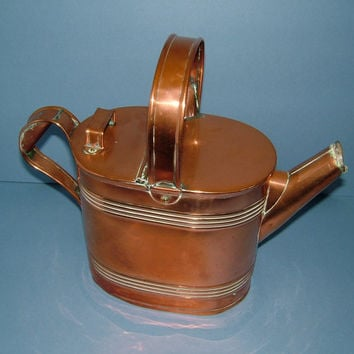 Victorian Copper Watering Can by HF & CO Fearncombe - Christopher Dresser