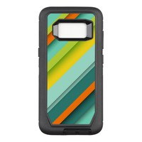Yellow Stripes OtterBox Defender Samsung Galaxy S8 Case