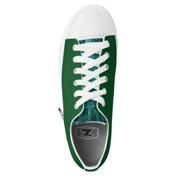 Custom green Low converse Designer Sneakers Printed Shoes