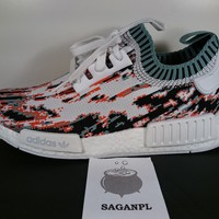 ADIDAS x SNS NMD R1 PK DATAMOSH BB6365 size 9.5us sneakersnstuff orange glitch