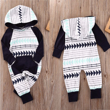 Baby Hooded Romper, Onesuit without Feet
