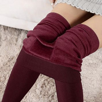 Thick Warm Fleece Lined Thermal Leggings