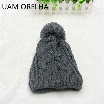 UMA ORELHA New Pattern fashion hip-hop hat Hemp Flowers caps winter  Ball Knitting Hat Male Ma'am cotton Wool Hat