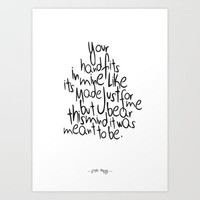 Little Things - One Direction Art Print by IER STORE