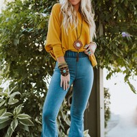 Janis Bell Bottom Jeans - Light Wash