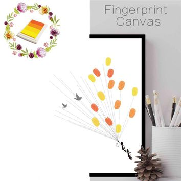 funlife Wedding Tree Fingerprint Wall Stickers DIY Frameless Wall Poster Baby Shower Party Guest Book Home Decoration Accessorie