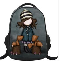 New Brand Polyester Backpacks Cartoon Characters Backpacks for Kindergarten Kids Cute School Bag for Primary School Students
