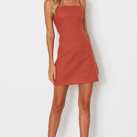 Charlotte Mini Dress Rust