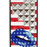 Star Kiss Silver Studded Pyramid iPhone 5/5s Case