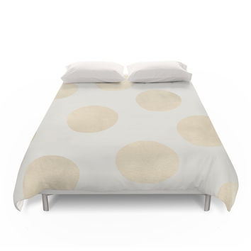 Society6 Gold Polka Dots Duvet Cover