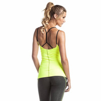 Sexy Women Running Gym Sports Yoga Running Vest Tank Top Stretch Sleeveless T-Shirt Blouse