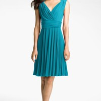 Ivy & Blu Pleated Jersey Fit & Flare Dress