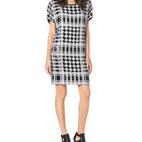 MICHAEL Michael Kors Sequined Houndstooth Plaid Dress