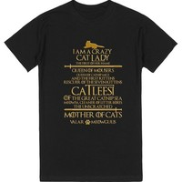 Catleesi Mother Of Cats. Funny Cat Lovers T-Shirt