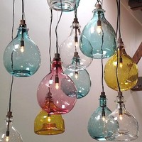 B-e-a-utiful handblown glass pendant lights