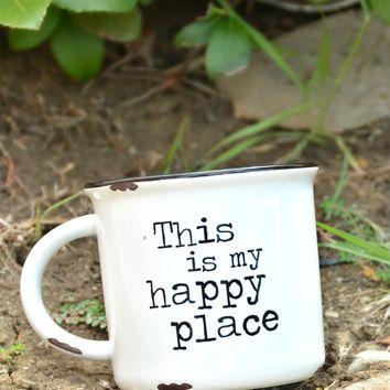 Natural Life Camp Mug - Happy Place