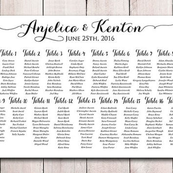 Wedding Seating Chart Printable   Wedding Seating Sign   Free Wedding Seating Chart Templates