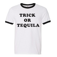 Trick Or Tequila Ringer Tee