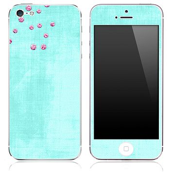 Vintage Blue Textured Print Skin for the iPhone 3, 4/4s or 5