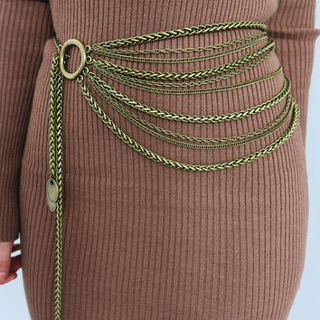 Chained Up Belt: Bronze