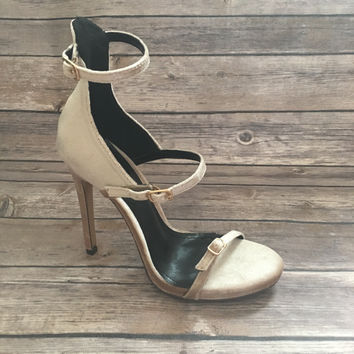 Crushed Nude Pump