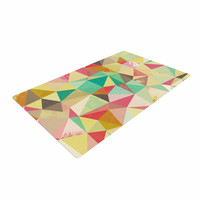 "Nic Squirrell ""Shards"" Multicolor Digital Woven Area Rug"