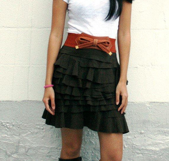 Modern Layered Cowgirl Western Country Skirt with by SevenBlooms