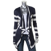 INC Womens Striped Open Front Cardigan Sweater