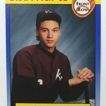 DEREK JETER ROOKIE CARD 1992 Front Row #55 Draft Pick '92 Yankees RC - LAST ONE