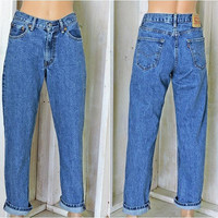 Vintage Levis 550 jeans 30 X 32 size 7 / 8 / LEVI'S  100% cotton / high waisted medium wash tapered