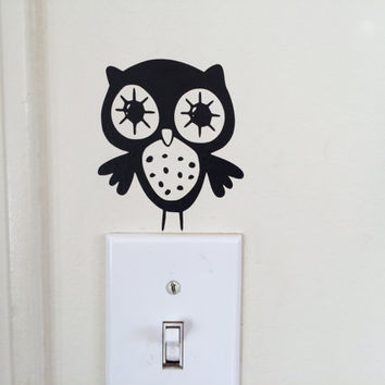 Owl Removable Vinyl Decal/ Vinyl Decal/ Wall Decal/ Laptop Sticker/ Light Switch Decal/ Vinyl Stickers/ Window Sticker/ Car Decal/ Sticker