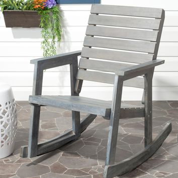Ash Gray Wood Outdoor Rocking Chair