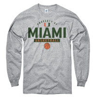 Miami Hurricanes Gray Property of Basketball Long Sleeve T-Shirt