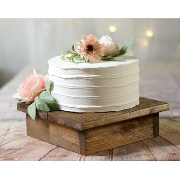 """10"""" Wood cake stand, reclaimed wood"""