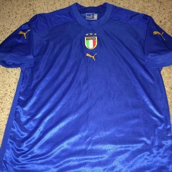 sale vintage puma italy soccer jersey italia football shirt  number 1