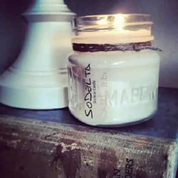 Square Mason Jar Soy Candle in Assorted Scents