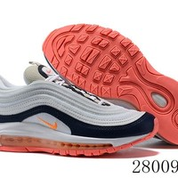 HCXX 19July 998 Nike Air Max 97 921733-015 Flyknit Breathable Running Shoes