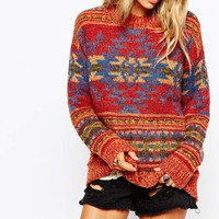Denim & Supply By Ralph Lauren Aztec Knit Jumper
