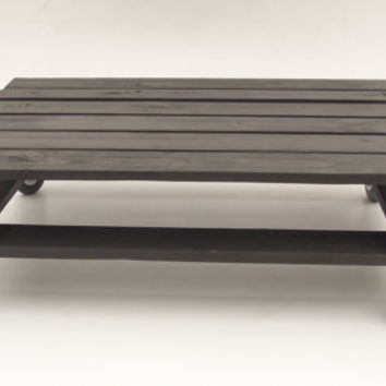 Black Industrial Style Pallet Coffee Table On Castor Wheels